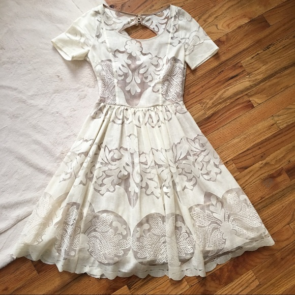 e65370c6d9da Anthropologie Dresses & Skirts - Tracy Reese Ivoire Dress Ivory Lace Cutout